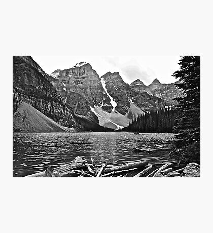 Moraine Lake in Black and White Photographic Print