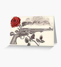 Rose and gun Greeting Card