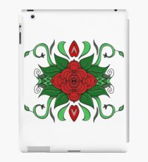 Red Flower / White iPad Case/Skin