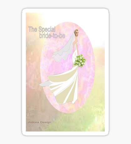 Bride to be  & flowers (5002 views) Sticker