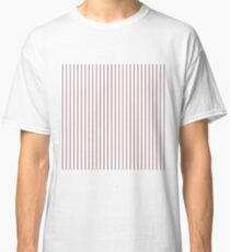 Princess Plum Pinstripe on White Classic T-Shirt