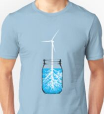 Natural energy wind turbine plant T-Shirt