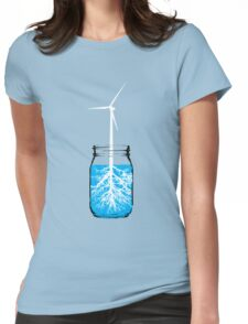 Natural energy wind turbine plant Womens Fitted T-Shirt