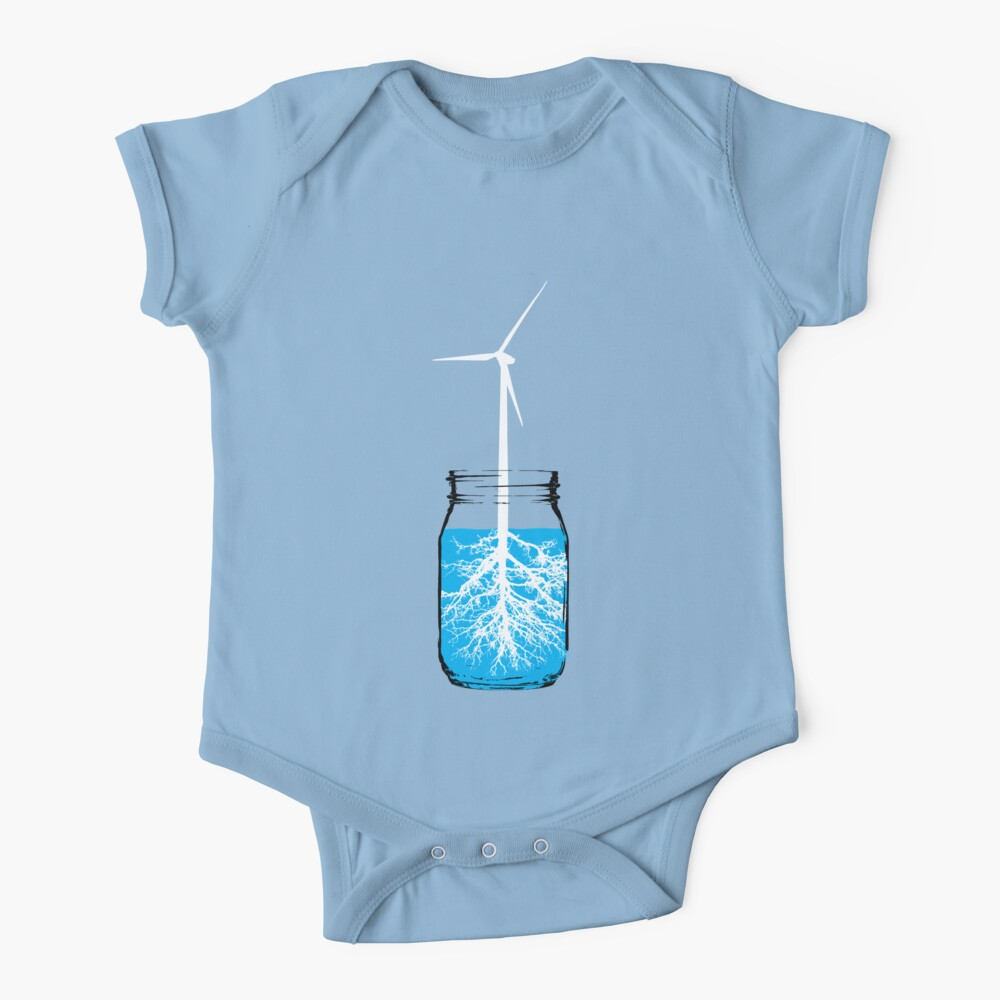 Natural energy wind turbine plant Baby One-Piece