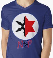 Ninja Sex Party T-Shirt mit V-Ausschnitt für Männer