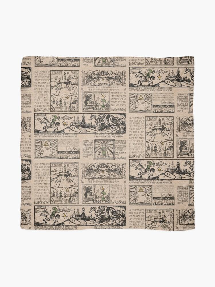 Vista alternativa de Pañuelo Tapices del héroe del tiempo