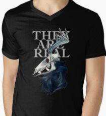 THEY ARE REAL - Blue version Men's V-Neck T-Shirt
