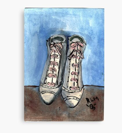 High Laced Boots Canvas Print