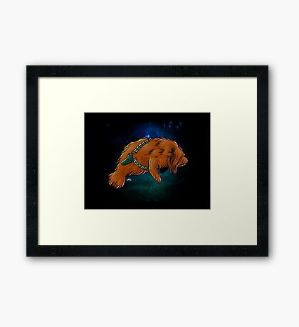 Chewy Manatee Framed Print
