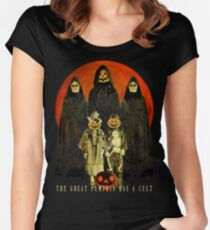 Cult of the Great Pumpkin: Trick or Treat Women's Fitted Scoop T-Shirt