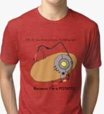 GladOs Potato Tri-blend T-Shirt