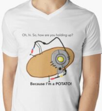 GladOs Potato Men's V-Neck T-Shirt