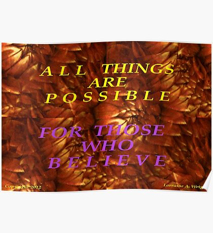 ALL THINGS ARE POSSIBLE Poster