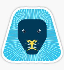 abstract lion face Sticker