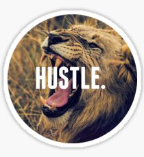 Hustle Lion Sticker