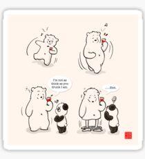Drunk As A Polar Bear Sticker