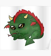 Chibi Dragon Poster