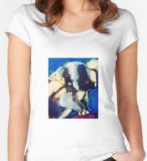 Koala baby on back Women's Fitted Scoop T-Shirt