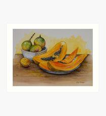 Papaya and maracuja Art Print