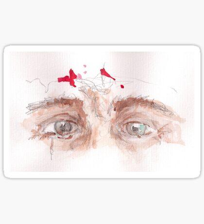 the eyes of Jesus Sticker