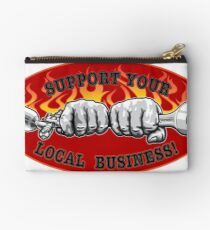 Support your local business! red black Studio Pouch