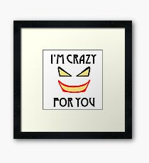 Joker love Framed Print