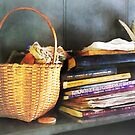 Books, Basket and Quills by Susan Savad