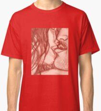 In the Dark She Bites My Lip- Red Classic T-Shirt