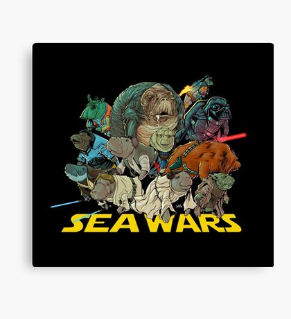SEA WARS! Canvas Print