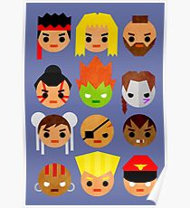 Street Fighter 2 Mini Poster
