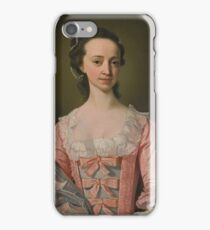 Henry Pickering PORTRAIT OF A LADY, HALF-LENGTH, IN A PINK DRESS iPhone Case/Skin