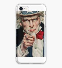 James Montgomery Flagg, I Want You for U. S. Army (detail),  iPhone Case/Skin