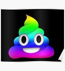 Rainbow Smiling Poop Emoji Poster