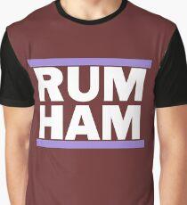 RUM HAM Purple Graphic T-Shirt