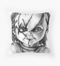 Hi, I'm Chucky, wanna play? Throw Pillow