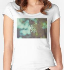 Bokeh With Butterfly Wings Women's Fitted Scoop T-Shirt