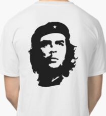CHE, Che Guevara, Revolution, Marxist, Revolutionary, Cuba, Power to the people! Black on White Classic T-Shirt