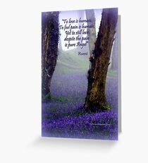 Bluebells and Rumi Greeting Card