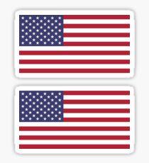 Pegatina Bandera de Estados Unidos × 2