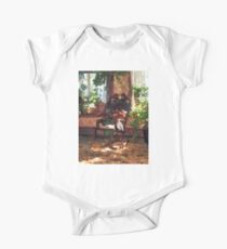Rocking Chair in Victorian Parlor One Piece - Short Sleeve