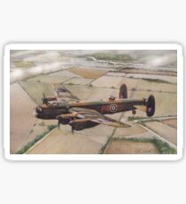 Lancaster over Lincolnshire Sticker