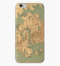 Map of Mount Desert Island, Maine. iPhone Case