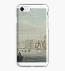 ROBERT CLEVELEY -  Greenwich from the River Thames Circa Watercolour over pen iPhone Case/Skin