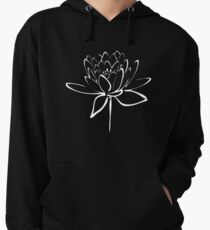 Lotus Flower Calligraphy (White) Lightweight Hoodie