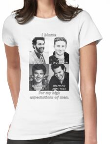High Expectations of Men Womens Fitted T-Shirt