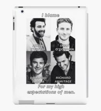 High Expectations of Men iPad Case/Skin