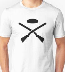 Crossed trap shooting shotguns Unisex T-Shirt