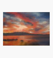 Line of fire (Gala Lake) Photographic Print