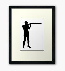 Trap shooting Framed Print