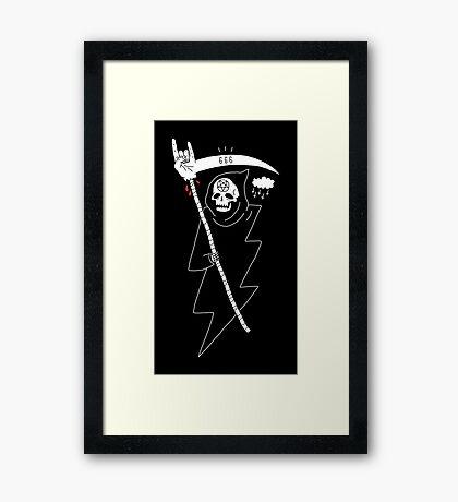 Angel of Death Metal Framed Print